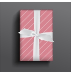Girly boxe and bow vector image vector image