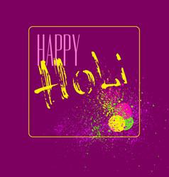 Happy holi car vector