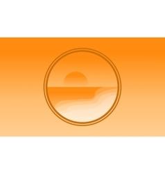 Icon beach landscape of silhouette vector