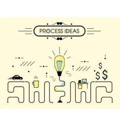 Infographics process ideas vector image vector image