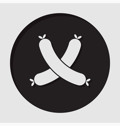 Information icon - sausages vector