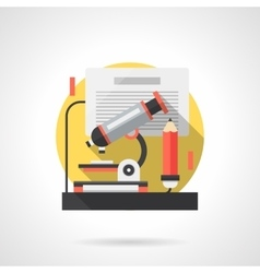 Laboratory expertise detailed color icon vector