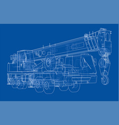 mobile crane vector image