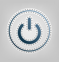 On off switch sign blue icon with outline vector