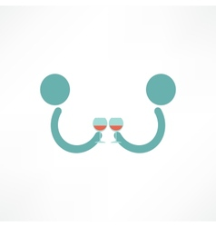 People drink wine vector image