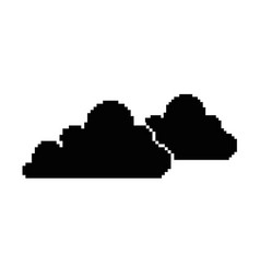 pixelated cloud game icon vector image