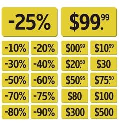 Price icon set vector