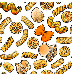 Seamless pattern backdrop design of italian pasta vector