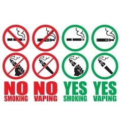 Set vaping icons vector
