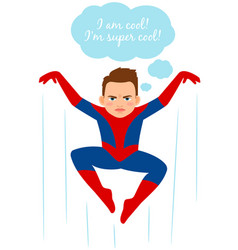 superhero spider boy vector image