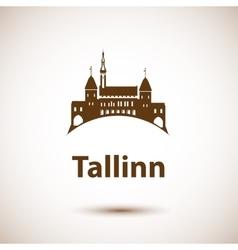 Tallinn skyline - vector image