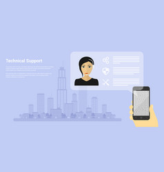technical support vector image