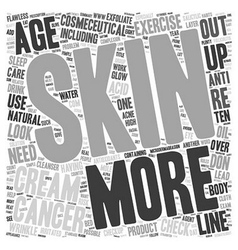 Ten habits for flawless skin text background vector