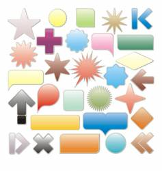 web elements collection vector image