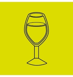 wine cup design vector image