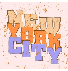 T shirt typography graphics new york athletic vector