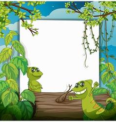 A smiling chameleons vector image