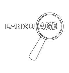 Learning foreign language icon in outline style vector
