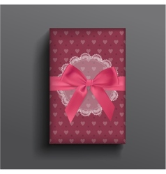 Girly boxe and bow vector image