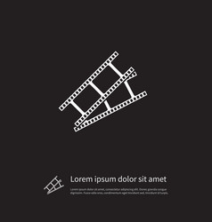 isolated photo tape icon video element can vector image