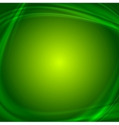 Shiny green wavy abstract background vector