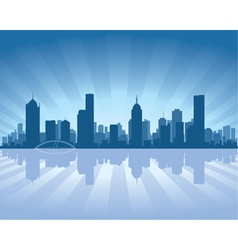 Melbourne skyline vector
