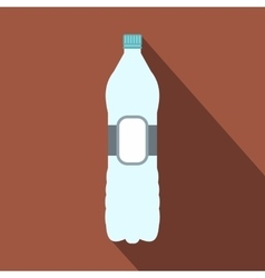 Plastic bottle flat icon vector