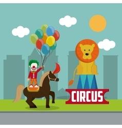 Circus clown design vector image