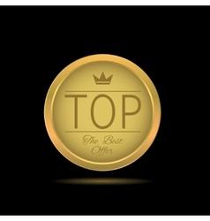 Golden top label vector
