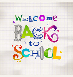 Back to school - hand drawn greeting vector