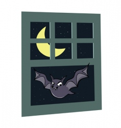 bat window vector image vector image