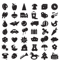 black silhouettes toys vector image