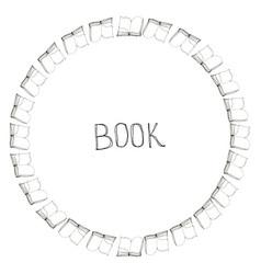 Book doodle frame vector