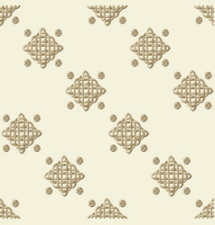 celtic knot seamless pattern vector image