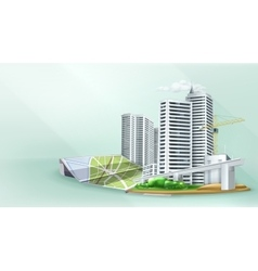 City building background vector image vector image