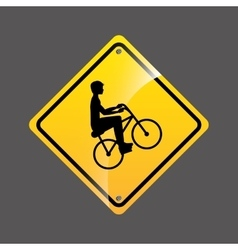 Cyclist person sign sport extreme design vector