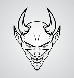 Devil Head vector image vector image