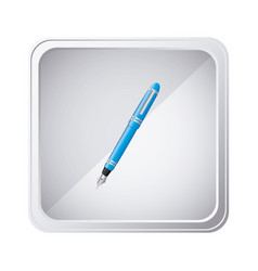 emblem blue ballpoint icon vector image vector image