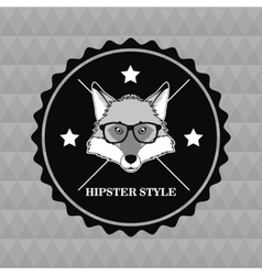 Fox animal hipster style vector