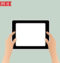 Hands holding tablet - - eps10 vector