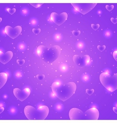 Hearts for Valentines Day Background Design vector image
