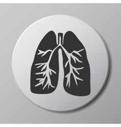 human lungs grey icon vector image
