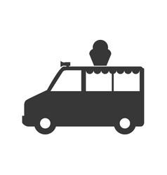 ice cream truck vector image
