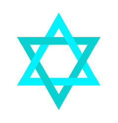 Isolated jewish star vector