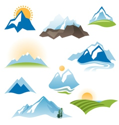 landscape icons vector image