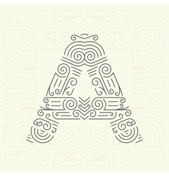 Letter A Golden Monogram Design element vector image