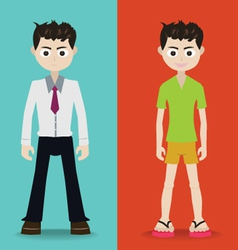 Man character vector image vector image