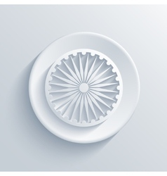 modern Indian republic day circle icon vector image vector image
