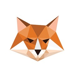 Origami fox portrait vector
