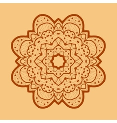 Ornamental outline mandala square flyer card vector